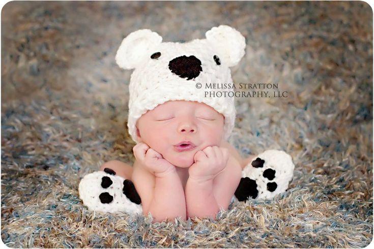 Newborn or 0-3 months  baby bear hat booties set crochet Newborn photo props photography boy girl. $32.00, via Etsy.