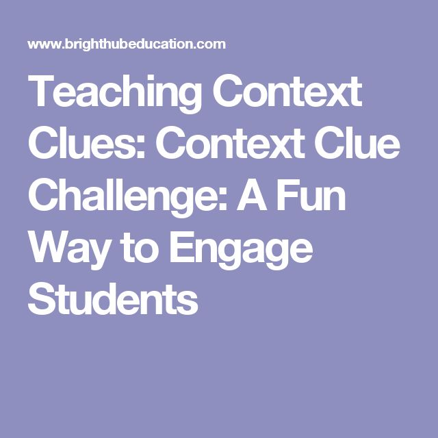 Context clues lesson high school