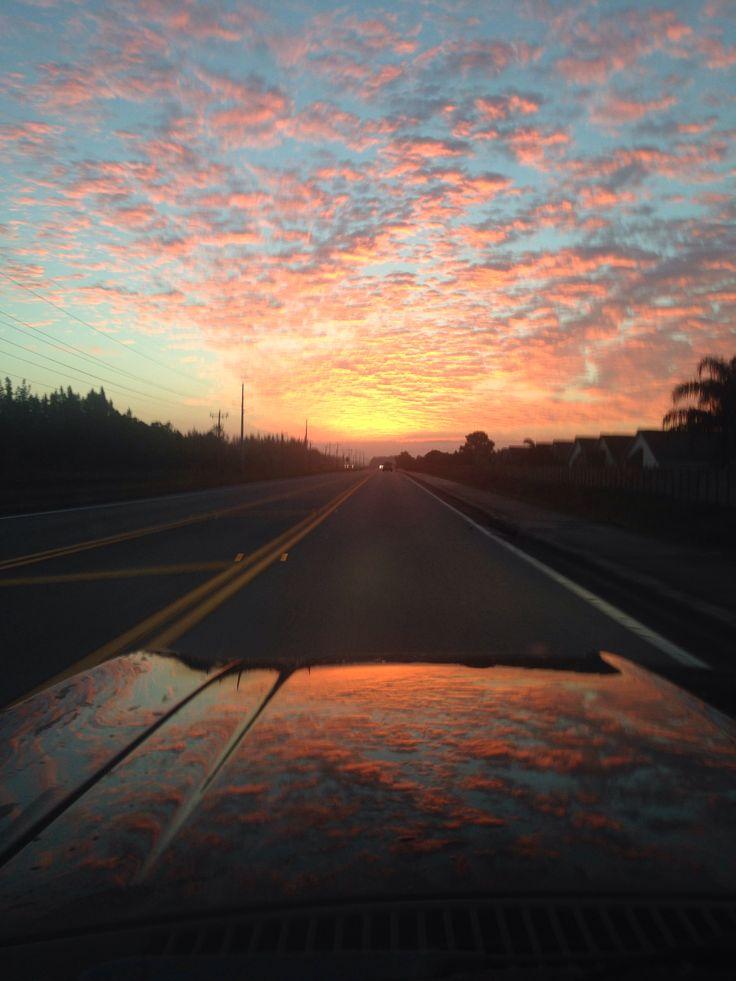 Sunrise driving nova to work