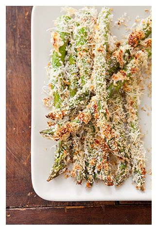 Parmesan Crusted Asparagus Recipe - Cook's Country recipe -- Plus, everything you need to know about picking, storing, and cooking asparagus!