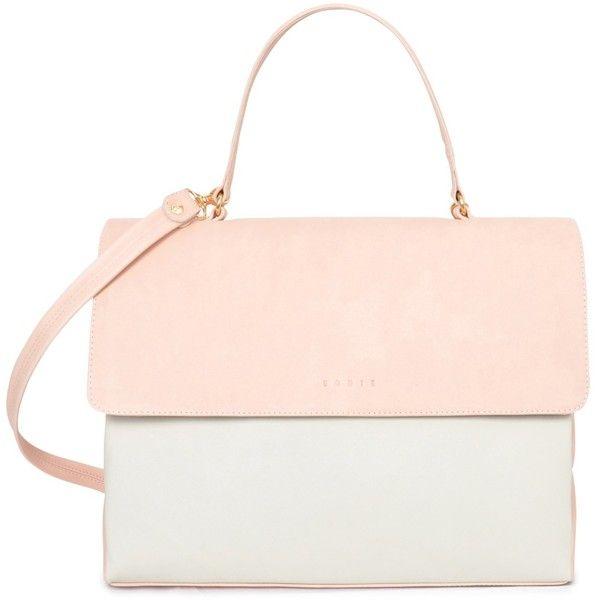 Eddie  - Vita Briefcase Pastel Pink & Ivory (6.070.260 IDR) ❤ liked on Polyvore featuring bags and briefcases