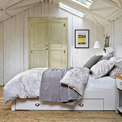 Looking for a shabby chic inspired bedroom? This beautiful sleep sanctuary from John Lewis has neutral tones and wooden elements to create this dream setting