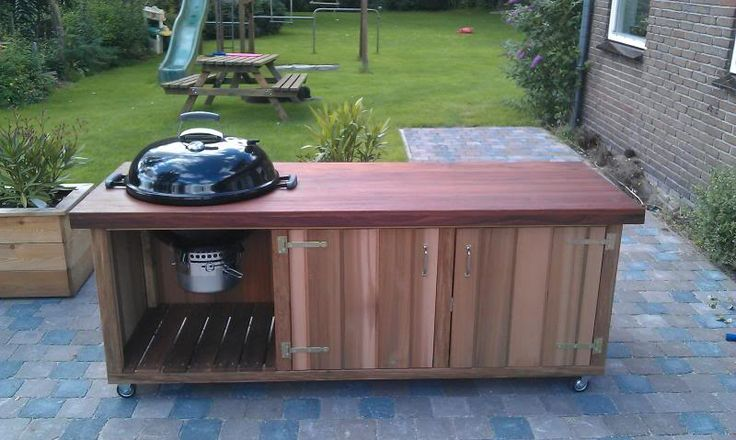 how to build a built in grill island