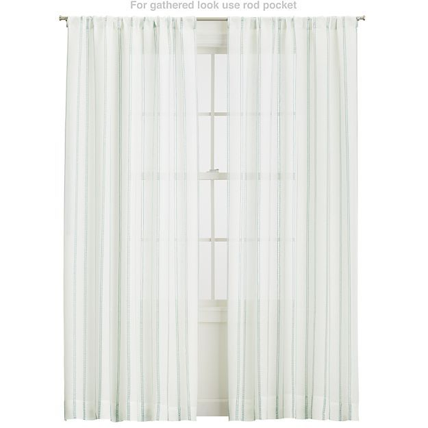 Pippa Mint Curtains | Crate and Barrel