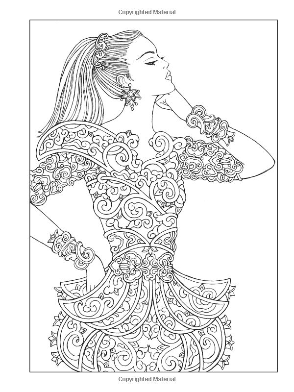 fashion designer coloring pages - photo#36