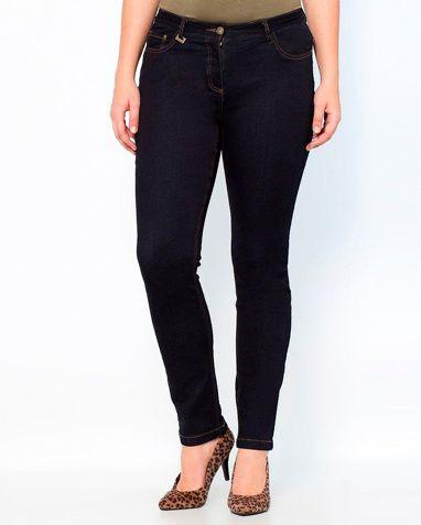 Taillissime Smala jeans, kurvig modell i Ljusblå stentvättad, Blå stentvättad, Mörkblå, Svart stentvättad, Svart, Blå blekt - La Redoute