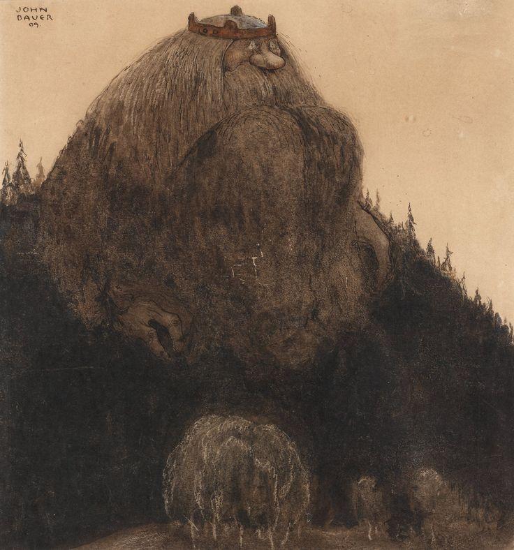 John Bauer  - Herr Birre och trollen (Master Birre and the goblins), 1909