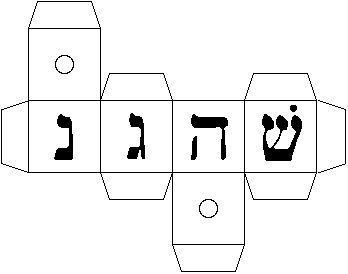 Make a dreidel, free template and instructions.