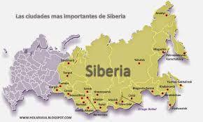 Resultado de imagen para mapa de donde se encuentra siberia