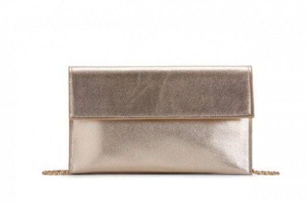 Pochette dorata metalizzata golden borse Carpisa 2014