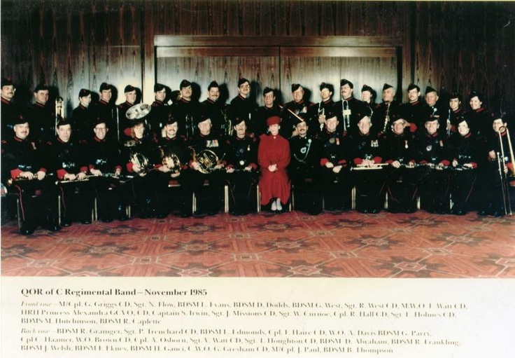 1985 Nov Regimental Band and Colonel in Chief Princess Alexandra of Kent