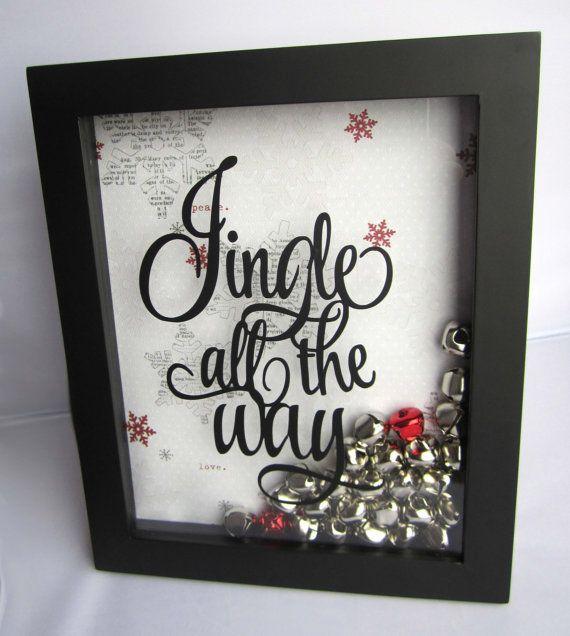 Jingle All the Way Frame, Jingle Bell Frame, Christmas Anniversary Frame, Christmas Decoration, Jingle Bells, Christmas Frame, Holiday Frame