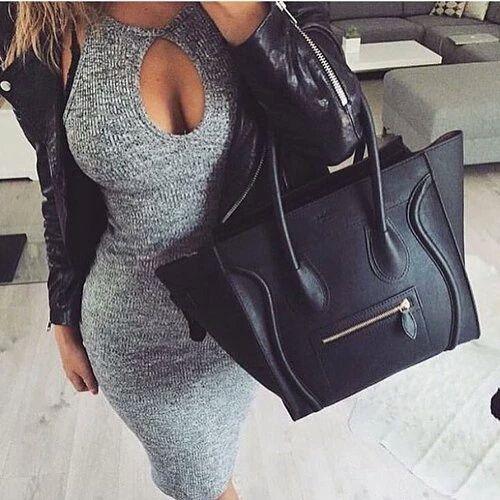 аксессуары, сумка, чёрный, светлые волосы, тело, Chanel, мода, фитнес, цели, серый, роскошное, комплект одежды, привлекательно, подросток, Tumblr