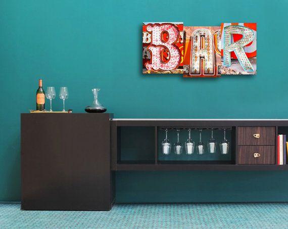Neon Bar Sign Custom Letter Art Vegas Neon by CapturedByMark