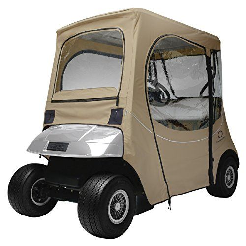 Golf Carts Ideas   Classic Accessories Fairway Golf Cart FadeSafe Enclosure for EZGo Short Roof Khaki * Click image to review more details. Note:It is Affiliate Link to Amazon.