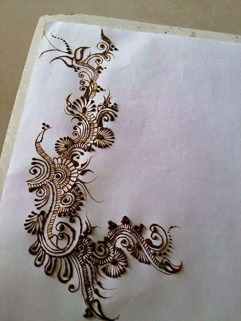 Indoarabic Mahendi Design