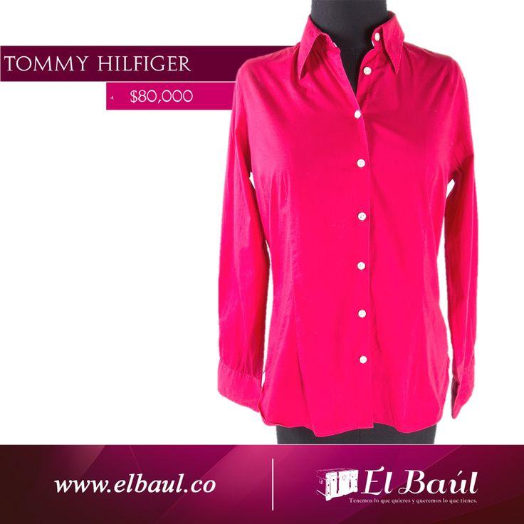 Tommy Hilfiger camisa roja algodón $80,000  http://elbaul.co/Productos/1543/Tommy-Hilfiger-camisa-roja-algod%C3%B3n-