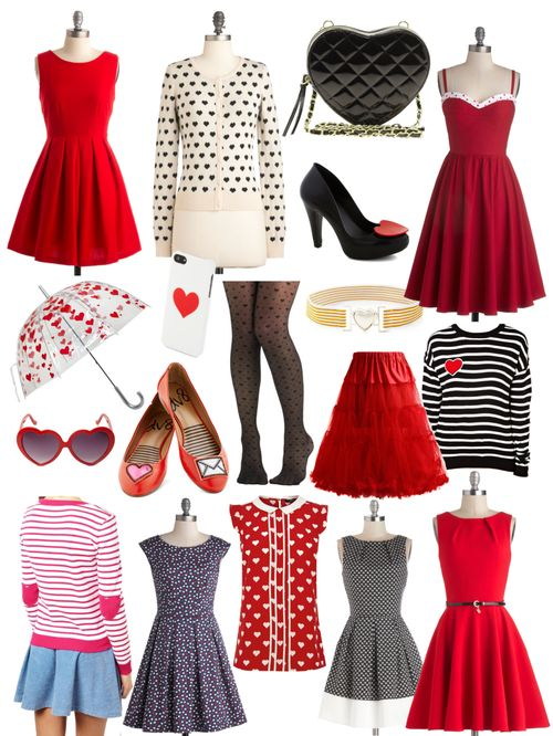In the style of New Girl: Hearts     Cue the Compliments Dress $64.99 Best Heart About It Cardigan $34.99 Quilted Heart Crossbody Bag $29 Shoe of...