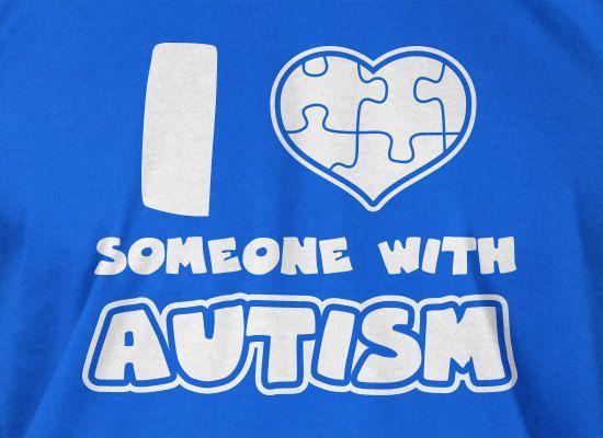 Autism T-Shirt Autism Spectrum Autistic Puzzle Piece I Love Someone With Autism T-Shirt Tee Shirt T Shirt Mens Ladies Womens Kids Youth. $14.99, via Etsy.