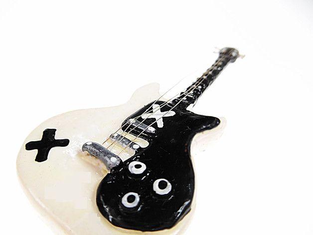 Miniature Guitar necklace. by Alice's idea... www.alicesidea.pl #necklace#5sos#guitar .