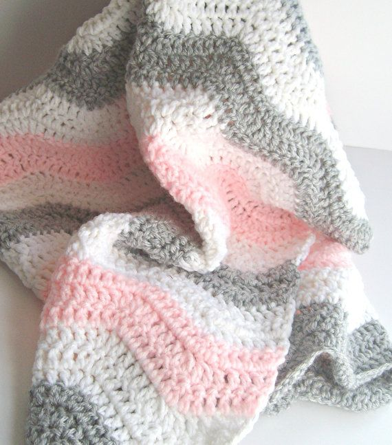 womens wide shoes cheap Pink and Gray Chevron Baby Blanket   Crochet Pink Baby Blanket   Chevron Baby Girl Pink Gray Nursery Bedding   Chevron Bedding 27 X 30 quot