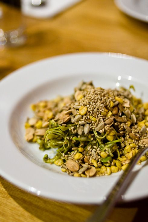 La Phet Thote - Famous Tea Salad - pickled tea leaves mixed with lentils, nuts, seasame seeds & chilli