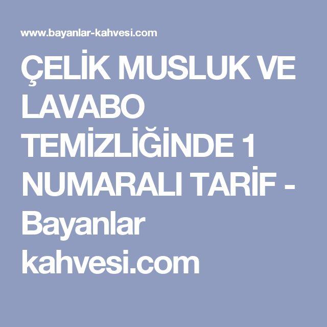 ÇELİK MUSLUK VE LAVABO TEMİZLİĞİNDE 1 NUMARALI TARİF - Bayanlar kahvesi.com