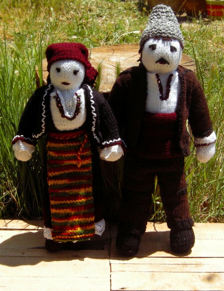 Rodopians knitted dolls, Bulgarian folklore dolls