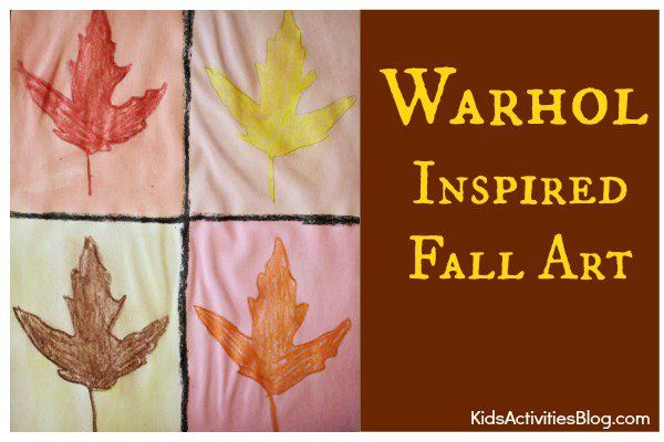 {Fall Color} Warhol Inspired Leaves