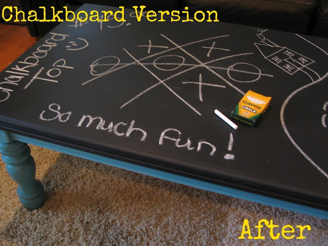 Chalkboard Coffee Table Great For Playroom Or Game Room