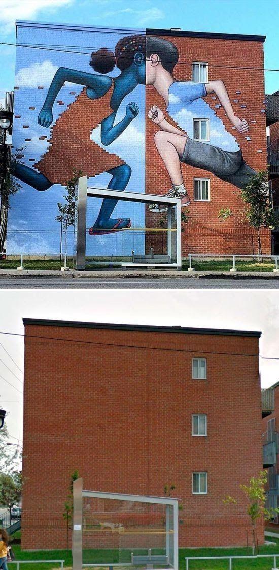 Καλλιτέχνες του δρόμου μετατρέπουν κτίρια σε έργα τέχνης - Η ΔΙΑΔΡΟΜΗ ®