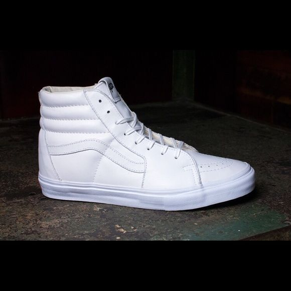 Women's All-White High Top Vans Size 7, all-white high top vans. only worn twice! Looking to sell, condition is like new! Vans Shoes Sneakers