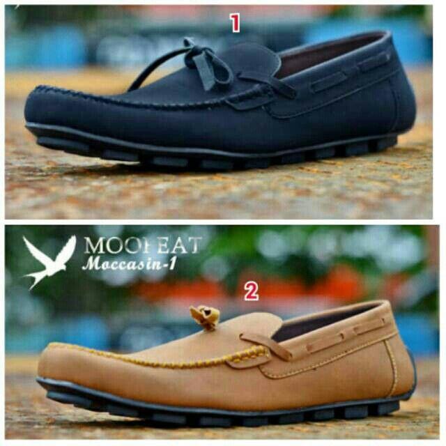 Saya menjual Sepatu MOOFEAT Casual Pria Santai Slop Murah Slip On Kampus  Jalan Kuliah Kantor Kerja