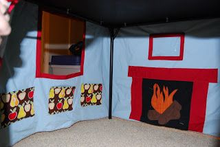 this and that: card table playhouse