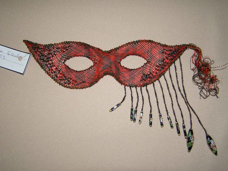 Maltese Bobbin Lace Mask