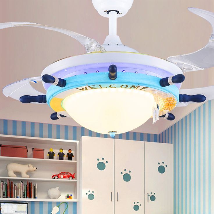 493.00$  Buy here - http://aliifc.worldwells.pw/go.php?t=32708251872 - Cartoon Led Ceiling Fans Mediterranean 110V-220V Led pendant lights modern lighting fixture kids room ceiling pendant lamp