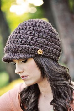 Crochet Pattern Hat Pattern Basic Newsboy Hat by SimplyMadeByErin | best stuff
