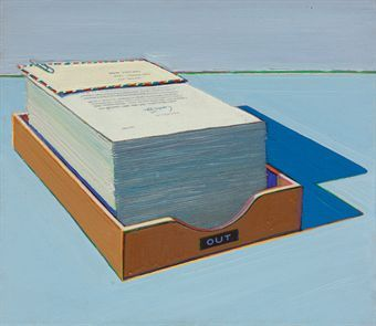 Wayne Thiebaud.   Out Box #1. Oil on canvas, 1972.