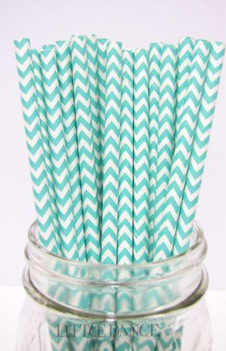 Aqua Chevron Paper straws for a Tiffany Party at www.littledanceinvitations.com.au http://www.littledanceinvitations.com.au/Products/Paper-Straws---Chevron-Aqua?productcategory=25803&productsubcategory=25805