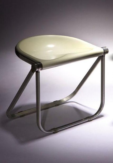 Giancarlo Piretti; Aluminum and Plastic u0027Plonau0027 Folding Stool for Castelli ... : plastic folding stools - islam-shia.org