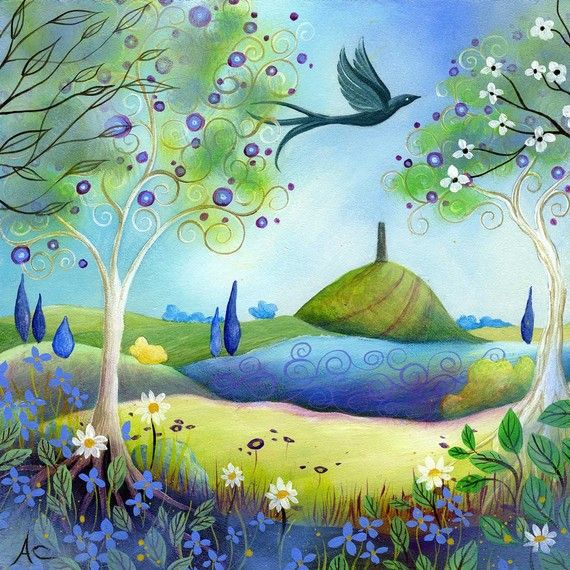 A fairytale  art print Spring Light by Amanda by earthangelsarts, $24.00