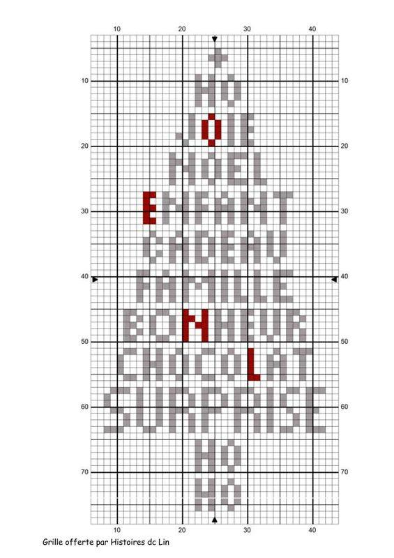 1356 best Grilles de points de croix pour Noel images on Pinterest