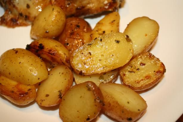 Greek-Style Oven-Roasted Lemon-Butter Parmesan Potatoes from Food.com:   I My family could make a meal just with these potatoes, they so delicious! Adjust all seasonings to taste, for a more lemon flavor then increase the lemon juice.