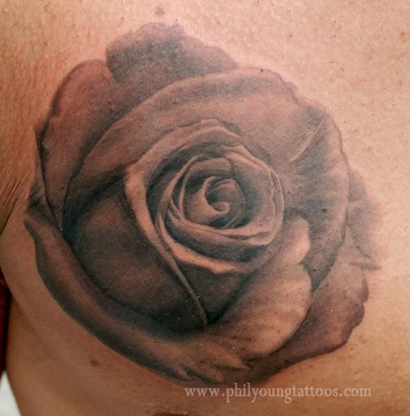 25 best black and grey realistic rose tattoo images on pinterest realistic rose tattoo tattoo. Black Bedroom Furniture Sets. Home Design Ideas