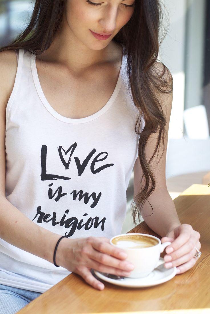 Love is My Religion Tank- Unisex, Black