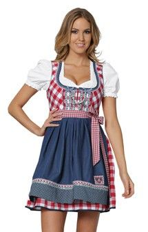 dirndl | available in: 34 36 38 40 42 44 Minidirndl 2pcs. Marina denimred 50 cm ...