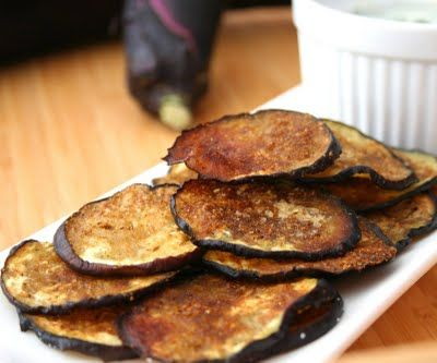 Garam Masala Eggplant Chips. Finally, a healthy salty snack that is full of spicy Indian flavor :)