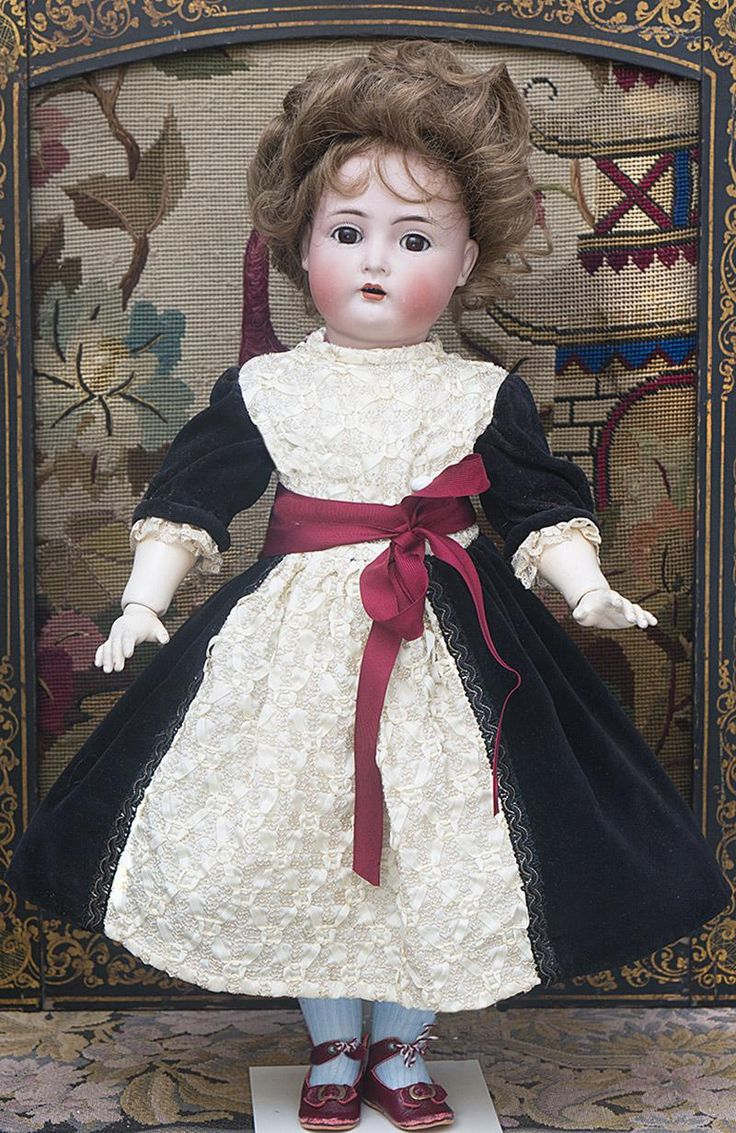 """20"""" (51cm) Antique German Bisque Child doll, 403, by Kammer and Reinhardt with Original Dress, in excellent condition!"""