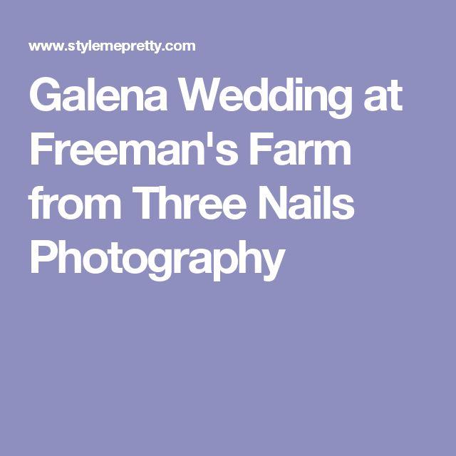 Galena Wedding at Freeman's Farm from Three Nails Photography