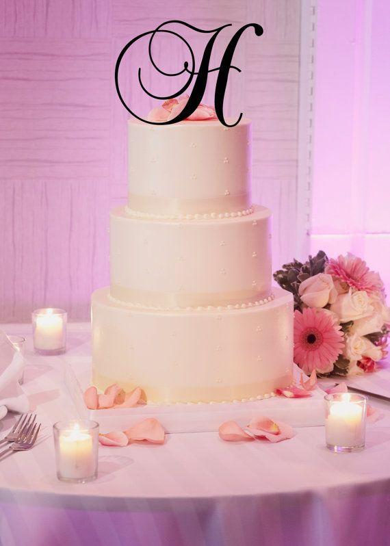 6 Tall Silver or Gold Mirror Acrylic Wedding Cake by MonogramCraze
